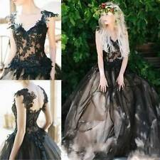 Black Gothic Ball Gown Wedding Dresses Vintage Bridal Gown Ball Gowns 2016