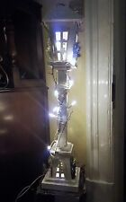 VICTORIAN VINTAGE LAMP POST FAIRY LIGHT LANTERN LAMP WOOD FLOOR STANDING TALL
