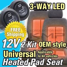 Car Interior Heated Pad 2Seat 3way LED Switch Hot Heater Diy Kit for FORD Car