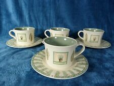 Pfaltzgraff Naturewood Set of 4 Coffee Cups and Saucers