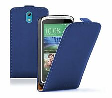 Ultra Slim BLUE Leather Flip Case Cover Pouch for HTC Desire 526G Dual
