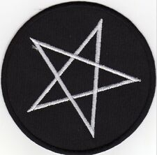 iron on Patches embroidered Patch Big Pentagram Pentangle Pentacle Sign -a5f4