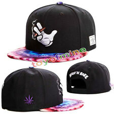Hip-hop nero Snap-back Baseball Via DANCING Tappo Regolabile Cappello