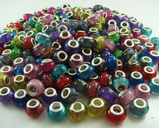 50pcs mix HOT murano DIY Jewelry bead LAMPWORK fit European Charm Bracelet #2