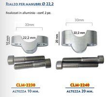 COPPIA Riser Rialzi Risers Manubrio 22 mm  Spessore 10 o 20 mm Spessori