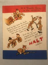 Vintage 1940s WWII Era Greeting Card To A Swell Guy in the Service (aH)