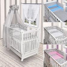 Babybett Kinderbett weiß Sterne Bettset komplett Neu Matratze Schublade 120x60