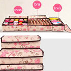 3PCS Ties Socks Bra Underwear Closet Divider Organizer Storage Box with Cover