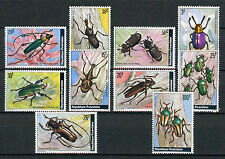 Rwanda 1978 MNH Beetles 10v Set Insects Stamps