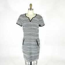 6 - Rebecca Taylor Womens NEW Black & White Woven Stripe Pattern Dress 0000MB