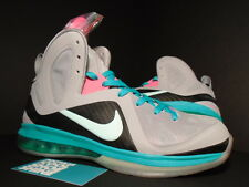 Nike Air Max LEBRON IX 9 P.S. PS ELITE SOUTH BEACH PRE-HEAT MIAMI GREY PINK NEW