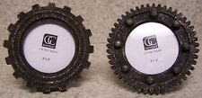 "Picture Frame Cogwheel Gears PAIR 4 1/2"" diameter for a 3"" diameter picture NEW"