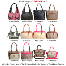 12 Women's Hobo Bags and Satchel Handbags - Lot of Designer Faux Leather Purses