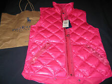 RRP£285 POLO RALPH LAUREN WOMEN LADIES GIRLS SMALL PINK GILET GILLET BODY WARMER