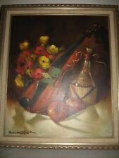 CHUCK OBERSTEIN ORIGINAL OIL PAINTING LISTED CALIFORNIA ARTIST