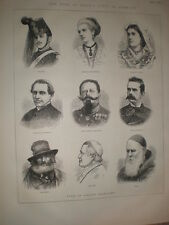 Italy Types of Italian Characters 1873 old prints