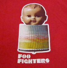 Foo Figthers Baby Doll Head Shirt Medium Red Concert Tour Dave Grohl Unique
