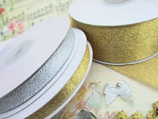 "33 yards Roll Metallic Taffeta 3/8"" Holiday Ribbon/Christmas/Golden R75-38-Gold"
