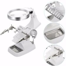 LED Helping Hand Magnifying Soldering IRON STAND Lens Magnifier Clamp Tool