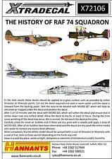 Xtra Decals 1/72 THE HISTORY OF R.A.F. 74 SQUADRON