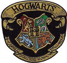 Harry Potter Hogwarts - Patch - Kostüm gestickter Aufnäher  zum aufbügeln groß