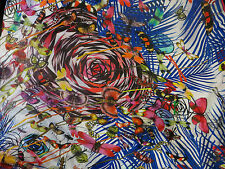 "NEW CHRISTIAN LACROIX 100% SILK CHIFFON SHAWL 53""x53"" MADE IN ITALY (VALUE$360)"
