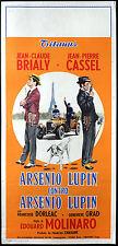 CINEMA-locandina ARSENIO LUPIN CONTRO ARSENIO LUPIN brialy,cassel,MOLINARO auto