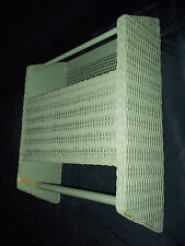 Vintage Wall-Mounted Turquoise Wicker Paper Towel Dispenser/Paper Towel Storage
