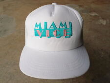 Vintage Miami Vice 6 Panel Trucker Snapback Hat Cap TV Show