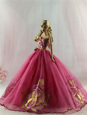 Fashion Princess Party Dress/Wedding Clothes/Gown For Barbie Doll H12