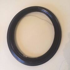 "Oval Antique Picture Frame Vintage Wood Painted Black  14.5"" x 12.5"""