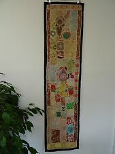 Patchwork Table Runner Wall Hanging Tapestry, Vintage Fabric Cream/Pastel TR?