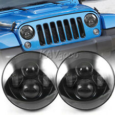 2x 7 inch 40W H4 Round LED CREE Headlight For 1997-2015 Jeep Wrangler JK CJ TJ
