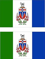 Set of 2x sticker vinyl car bumper decal outdoor car moto flag yukon canada