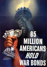 * IN SUPPORT OF LIBERTY * 85 Million Americans HOLD War Bonds * PROVENANCE *