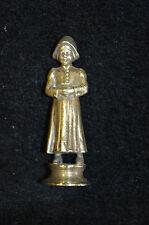 Ancien seau à cacheter / tampon de cire / statuette en bronze