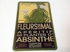 Absinthe francese Absinth PIASTRA Van Gogh Tavern Decorazioni da parete VINTAGE SIGN TIN Placca