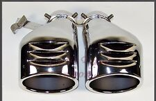 Mercedes-Benz W203 C240 C320 Exhaust Tail Pipes Double Tips Germany Schatz