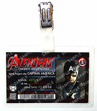 Marvel Avengers ID Badge Captain America Superhero Cosplay Costume Comic Con