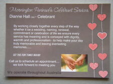 Mornington Peninsula Celebrant Services Dianne Hall Brochure Postcard