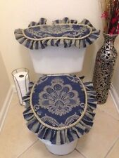 BATH SET, 2 PC. Home craft Gift  Mother´s Day  Decoration Homemade FABRIC