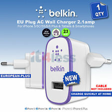 Belkin MixIt Colour Range 2.1 Amp USB AC Wall Charger EU Plug for Smartphones