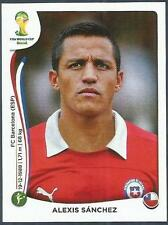 PANINI WORLD CUP 2014- #164-CHILE & ARSENAL-BARCELONA-ALEXIS SANCHEZ