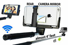 Monopod Selfie Stick Telescopic & Bluetooth Wireless Remote Holder With Mirror
