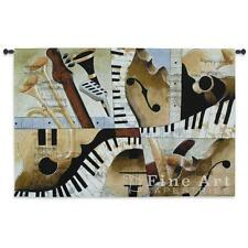 "Jazz Medley I Music Tapestry Wall Hanging Modern Design 52""x32"""