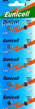 10x AG4  battery  LR626 G4  SR626W   377  376   Alkaline batteries by   Eunicell