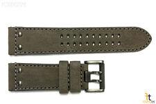 Luminox 1823 1843 Atacama 23mm Gray Leather Watch Band Strap w/ 2 Pins