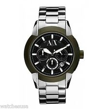Armani Exchange Men's AX1175 Olive Chronograph Stainless Steel Quartz Watch