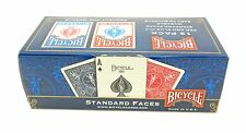 Bicycle Standard Playing Cards #808 Poker Cards 12 Decks 6 Blue, 6 Red Brand New