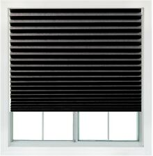Redi Shade Black Blackout Cordless Paper Window Shade Made in the USA Cord Free